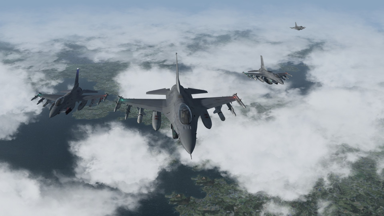 F-16 4 ships formation