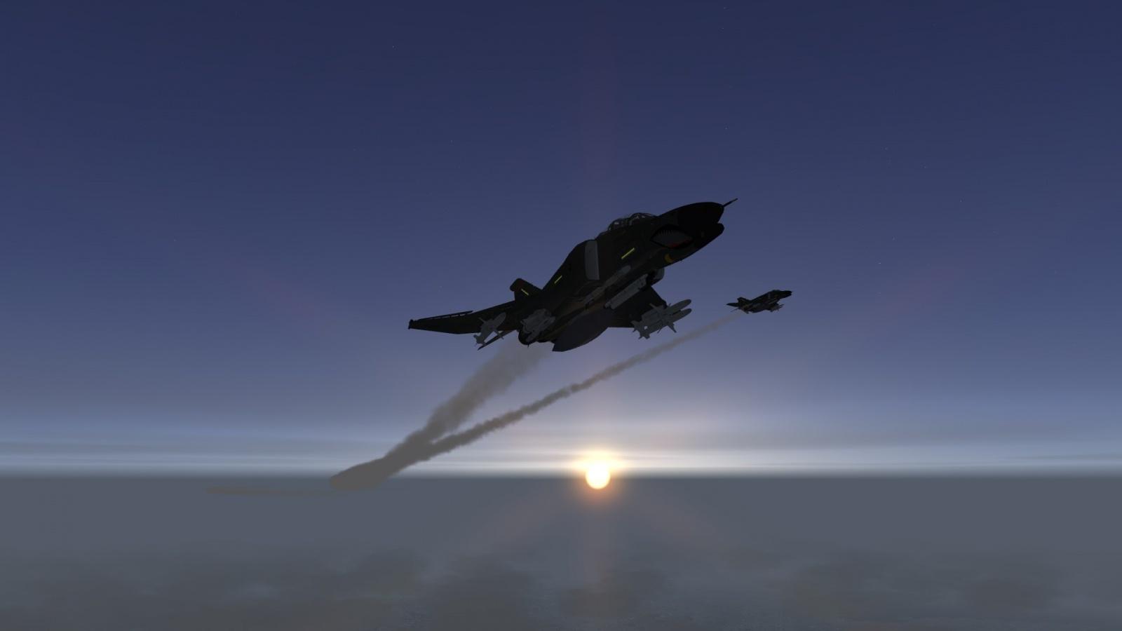 F-4 at dawn